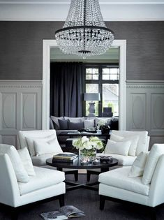 If you are looking for 53 Excellent Formal Living Room Decor Ideas, You come to the right place. Here are the 53 Excellent Formal Living Room Decor Ideas. Living Room White, White Rooms, Formal Living Rooms, My Living Room, Home And Living, Living Room Decor, Living Spaces, Dining Room, Living Room Layout 4 Chairs