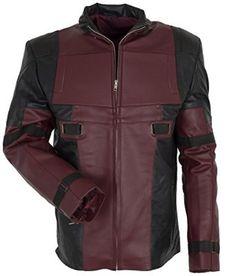 Amazon.com: Dead Pool Maroon Leather Jacket-Leather costume: Clothing