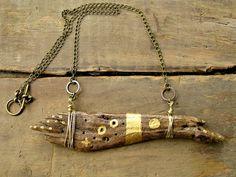 Karen Daugherty/ArtifactsEtCetera - Eustic Driftwood Necklace