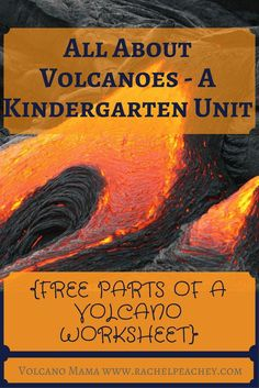 All About Volcanoes A Kindergarten Unit Free Parts Of A Volcano Worksheet Volcanoes They Re So Exciting Any Kindergartener Will Be Instantly Interested And Motivated In Studying This Natural Phenomenon I Ve Begun A Volcano Unit With Peanut This Week So I Preschool Science, Science For Kids, Montessori Science, Teaching Science, Earth Science, Volcano Information, Volcano Parts, All About Volcanoes, Volcano Worksheet