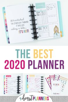 The Best 2020 Planner This super customizable, discbound planner is the last planner you'll ever ne Study Planner, Planner Layout, Planner Pages, Life Planner, Printable Planner, Happy Planner, Planner Stickers, School Planner, Planner Inserts