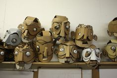 The Huns. Artist Kiel Johnson and Crowd Sourced Cardboard Dancing Robots | Hi-Fructose Magazine