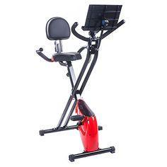 nice BTM bicicleta estática magnética plegable, para fitness, ejercicio de cardio, pérdida de peso, máquina con soporte para iPad