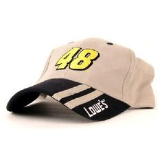 b58e3862 Jimmie Johnson Lowe's Double Stripes on a Tan Ball cap, new w/tags