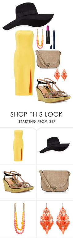 """""""Good Things Were So Bad"""" by agent-skyewidow ❤ liked on Polyvore featuring Jay Godfrey, San Diego Hat Co., Paul Smith, New Look, Amrita Singh, NARS Cosmetics, Stila, yellow, makeup and hat"""