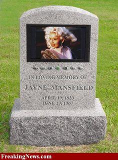 Jayne Mansfield (Actress) headstone