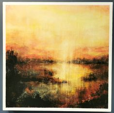 Aurore - 16 x 16 pc - Abstract Landscaping Abstract Landscape, Landscape Paintings, Les Themes, Les Oeuvres, Landscaping, Sunrises, Landscape Planner, Yard Landscaping, Landscape