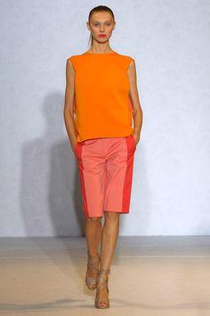 Orange Hot Pink Fashion. Nicole Farhi Spring-Summer 2012.
