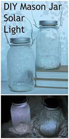 DIY mason jar solar light for winter