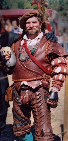 A Scottish Knight Renaissance Fair Costume, Renaissance Men, Medieval Costume, Medieval Armor, Renaissance Clothing, Medieval Fantasy, German Costume, German Outfit, Landsknecht