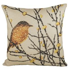 I pinned this Snow Bird Pillow from the Creature Comforts event at Joss and Main!