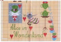 Lilli Violette - Alice in Wonderland Alice In Wonderland Cross Stitch, Stitch Character, Cross Stitch Fairy, Through The Looking Glass, Beautiful Children, Embroidery Patterns, Needlework, Fairy Tales, Needle And Thread