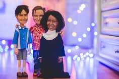 Puppet portraits of Charlie Sheen, Robin Williams and Whoopi Goldberg Whoopi Goldberg, Charlie Sheen, Robin Williams, Puppets, Bring It On, Portraits, People, Portrait Photography, People Illustration