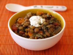 Lentil Veggie Stew in the Slow Cooker