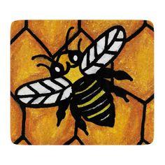 Cute Buzzing Yellow Jacket Bee Honeycomb