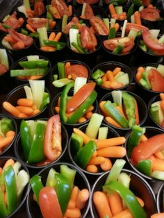 Colorful veggie cups from Haijar Elementary