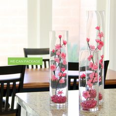cherry blossom wedding centerpieces and home decoration