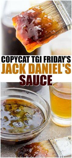 marinade sauce Copycat TGI Friday's Jack Daniel's Sauce - great on chicken, fish, veggies - the possibilities are endless! Copykat Recipes, Sauce Recipes, Jack Sauce Recipe, Tgif Recipes Copycat, Fondue Recipes, Jack Daniels Salmon Recipe, Jack Daniels Chicken, Jack Daniels Glaze, Healthy Recipes