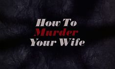 How to Murder Your Wife (1965) Blu-ray movie title