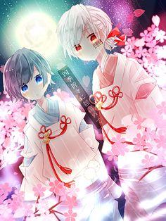 Soraru (そらる) and Mafumafu (まふまふ) utaite (歌い手) for those ppl who wanna know lol Anime Chibi, Kawaii Anime, Chibi Boy, Chica Anime Manga, Bebe Anime, Anime Style, Anime Friendship, Anime Songs, Natsume Yuujinchou