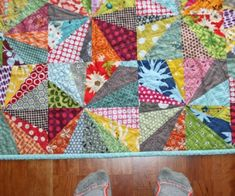 the flea market fancy in this quilt is killing me! plus i love the pattern!