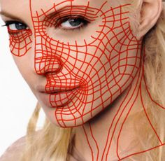 Face topology flow Face Topology, Modeling Tips, Halloween Face Makeup, Wire Mesh, Wireframe, 3d, Flow, Metal Lattice, Wire Mesh Screen