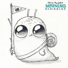 (4) Chris Ryniak - Snail Scout!  #morningscribbles