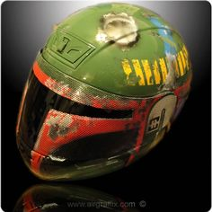 AirGraffix Superheroes – De superbes casques de moto customisés