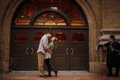 Downtown Denver Engagement Photo