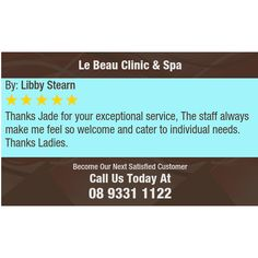 Thanks Jade for your exceptional service, The staff always make me feel so welcome and...