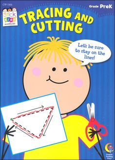 This book provides practice in tracing and cutting, skills that promote proficiency in handwriting and other fine motor activities your child will encounter in Preschool Cutting Practice, Creative Teaching Press, Pre Kindergarten, Pre Writing, Primary Classroom, Motor Activities, Online Craft Store, Business For Kids, Teacher Resources