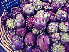 Farm to market artichokes in Provence, France
