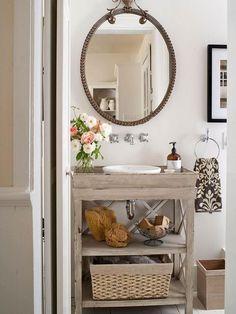 DIY Bathroom Vanities - love this, it's exactly what I want.