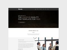 Mairala is an one page website design for corporate agencies. This resource was created by Imran Khan.