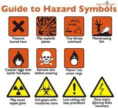 A *Funny* Guide to Hazard Symbols