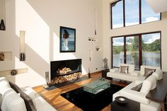 Loch House - contemporary - Living Room - Scotland - McInnes Gardner Architects