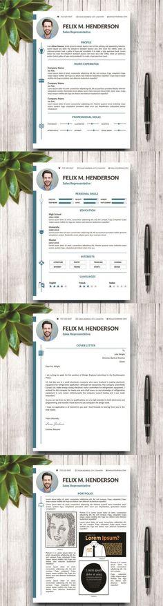 Adriana - Feminine Resume/CV Resume Templates Pinterest Resume