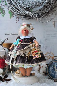 Купить Тильда-толстушка рукодельница! в интернет магазине на Ярмарке Мастеров