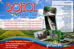 Bohol tour package for as low as Php3,300.00 only.