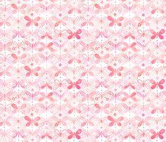 La Vie en Rose fabric by kayajoy on Spoonflower - custom fabric