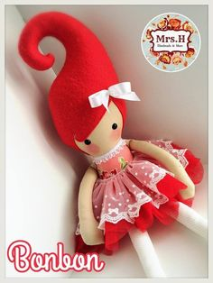 """From my Kandi range which are a whooping 23"""" tall, wearing a pretty tutu layered with embroidered lace.They are CE marked and suitable from birth although actually bigger than the average newborn Bonbon is doll no.2014/122"""