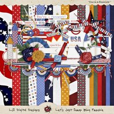 Scrapbooking TammyTags -- TT - Designer - Let's Just Scrap, TT - Item - Kit or Collection, TT - Theme - Patriotic or July 4th