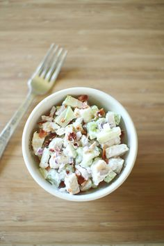 Apple Bacon Chicken Salad for One (Points+ = 3)