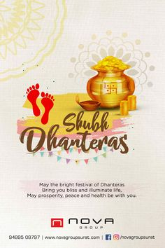 May the bright festival of Dhanteras Bring you bliss and illuminate life, May prosperity, peace and health be with you. Contact us for Successful Online Brand Building. Dhanteras Wishes Images, Happy Dhanteras Wishes, Diwali Wishes, Diwali Greetings, Navratri Wishes, Happy Navratri, Family Wishes, Wishes For Friends
