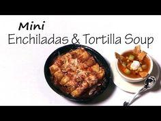 Mexican Enchiladas & Tortilla Soup - Polymer Clay Tutorial - YouTube