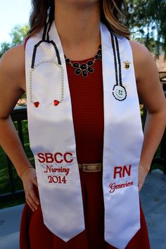 Nursing Graduation Stole with Gem stethoscope!!!! Photo Credit: Lizzie Zweng