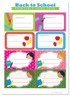 Mami Talks™: Printable Back to School Name Tags #backtoschool #printables