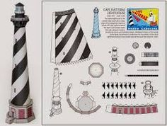 Image result for Lighthouses 3d metal template