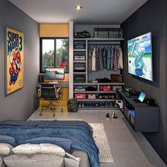 Bedroom Setup, Room Design Bedroom, Room Ideas Bedroom, Small Room Bedroom, Home Decor Bedroom, Modern Bedroom, Home Office Design, Dream Home Design, Hypebeast Room