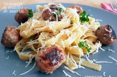 Carbonara de boulettes de saucisse façon Jamie Oliver
